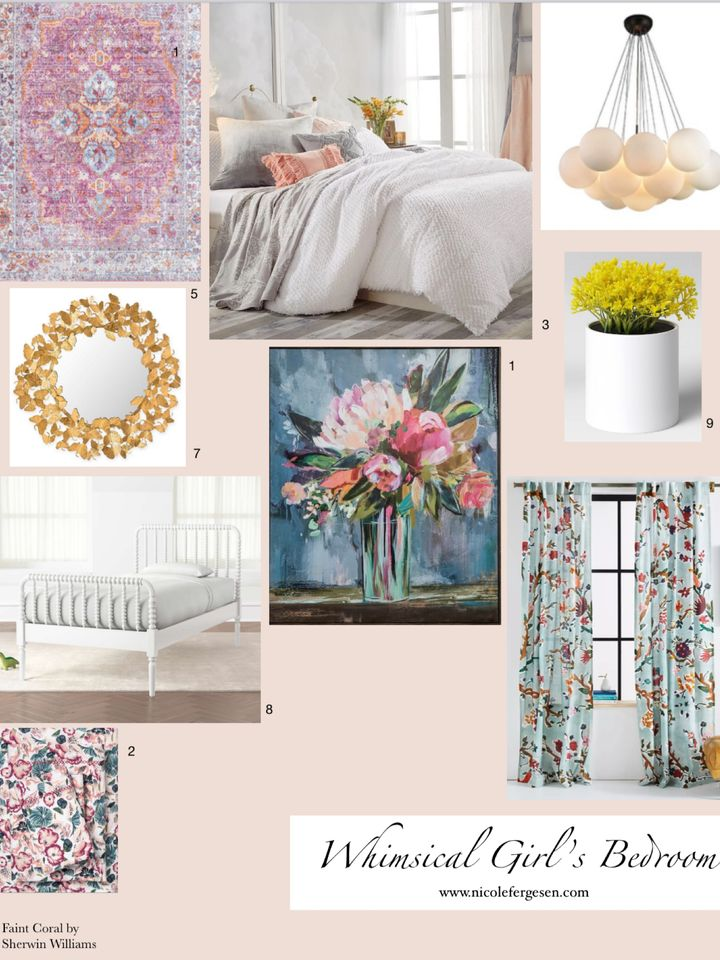 Whimsical Girl's Bedroom – Inspiration and Before
