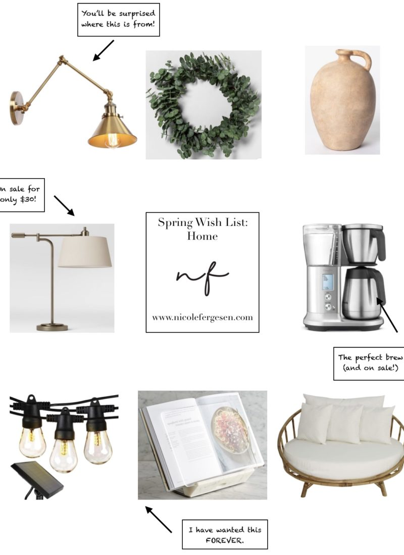 Spring Wish List – Home Edition
