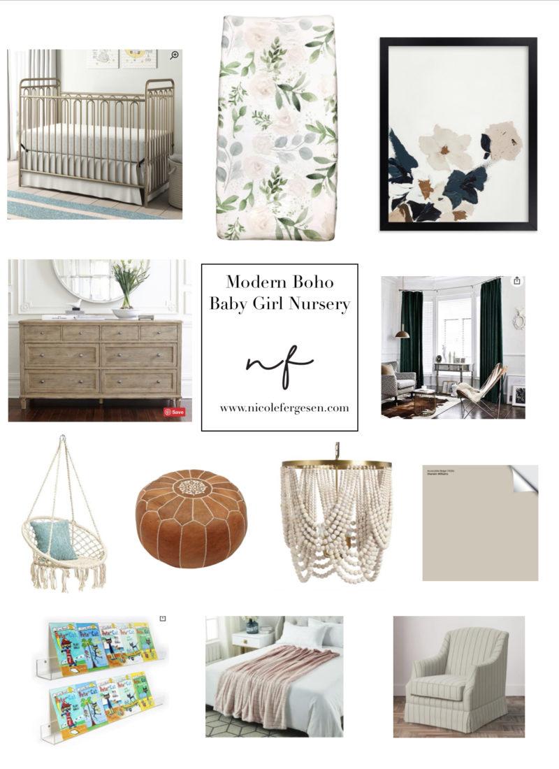 Modern Boho Nursery: Mood Board & Before Pictures